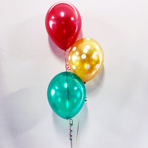 Christmas Bouquet of 3 Balloons