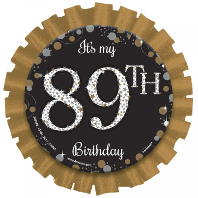 "Badge / Pin ""It's My Birthday"" ANY AGE!"