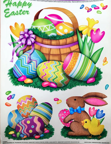 Easter Egg Bunnies Window Clings