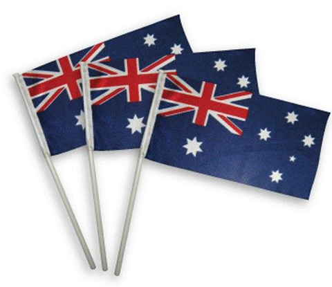 Australia Flag Plastic on Stick