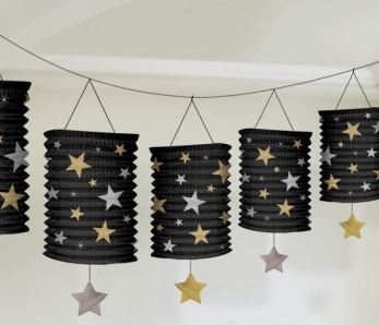 Lantern Garland Hollywood with Stars