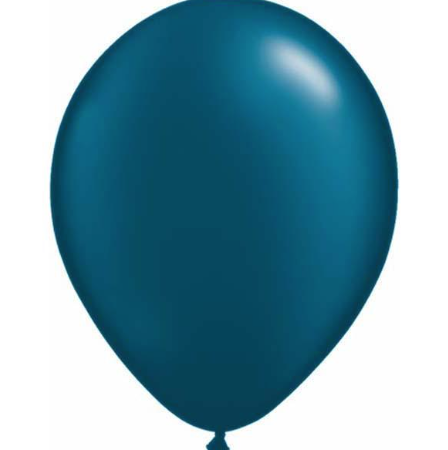 Pearl Midnight Blue Latex Balloons Pack of 25