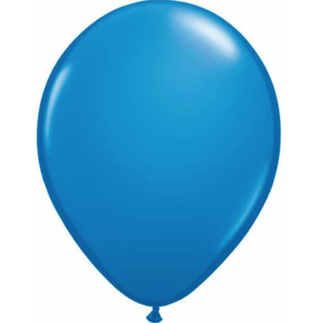 Standard Dark Blue Latex Balloons Pack of 25