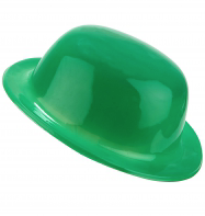 Green Bowler Hat Plain