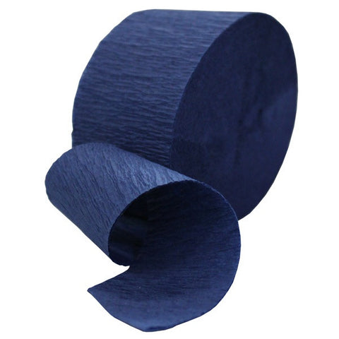 Crepe Streamer Navy