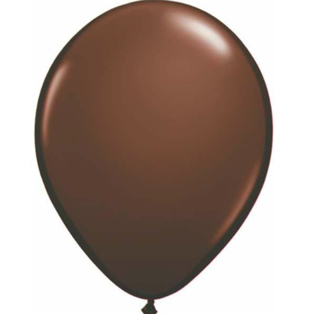 Fashion Chocolate Brown Latex Balloons Pack of 25