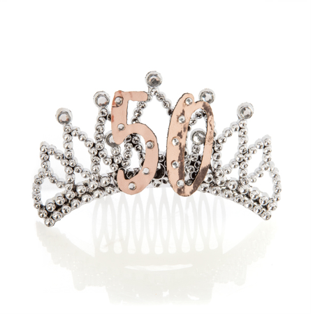 Tiara 50th Rose Gold/Silver