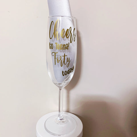 Customised Champagne Glass