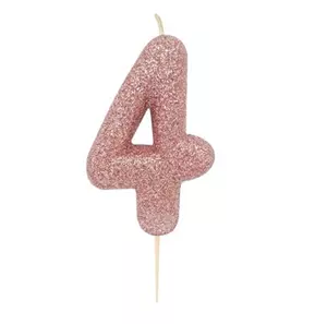 Glitter Candle #4 Rose Gold