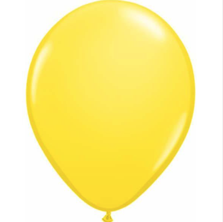 Standard Yellow Latex Balloons Bag of 25