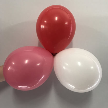 Red, Pink and White Latex Balloons