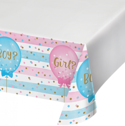 Gender Reveal Tablecloth