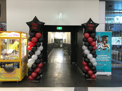 Column with 90cm Foil Balloon Topper