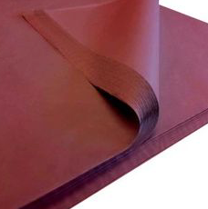 Cellophane Sheet Solid Colour Burgundy
