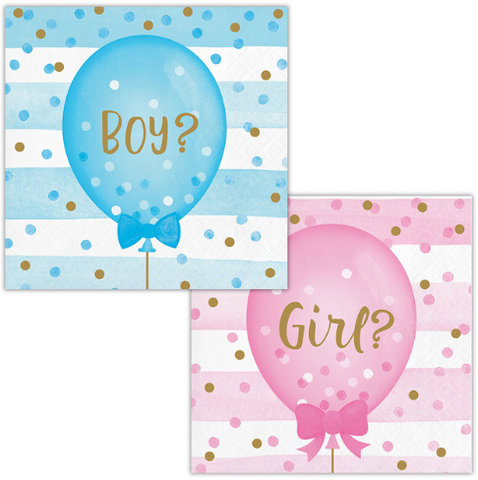 Napkins Gender Reveal Boy / Girl