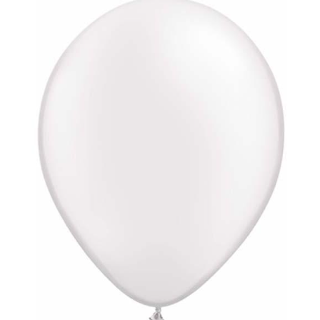 Pearl White Latex Balloons Pack of 25