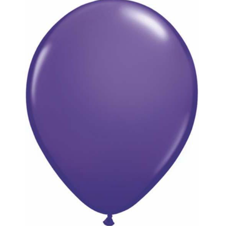 Fashion Violet Latex Balloons Pack of 25