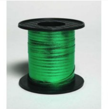 Metallic Curling Ribbon Green 225m