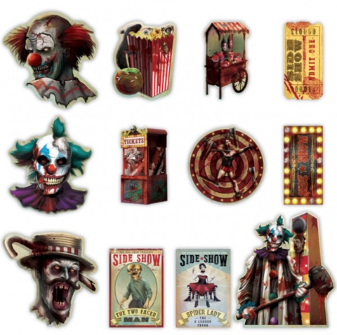Creepy Circus Cutouts Value Pack