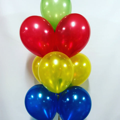 10 Balloon Bouquet with Hi-Float