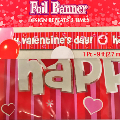 Foil Banner Happy Valentine's Day