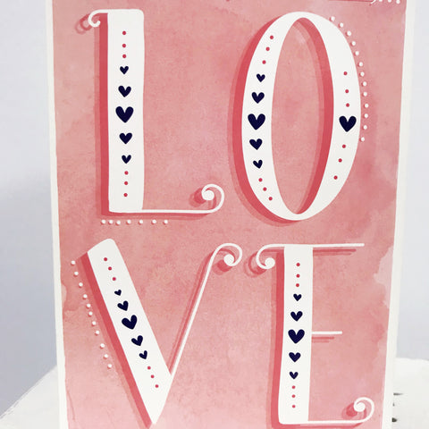 "Greeting Card ""LOVE"""