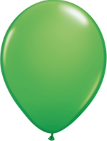Fashion Spring Green Latex Balloons Bag of 25