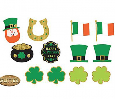 St. Pat's Cutouts Value Pack with Glitter accents