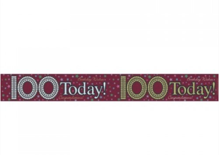 Foil Banner 100 Today