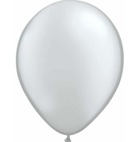 Pearl Silver Latex Balloons