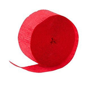Crepe Streamer - Red