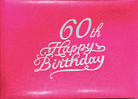 Guest Book 60th Hot Pink/Silver in Box