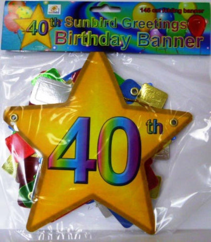 Folding Banner 40th Birthday