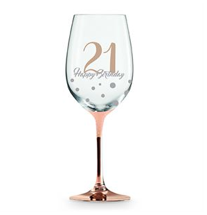 Wine Glass Rose Gold 21