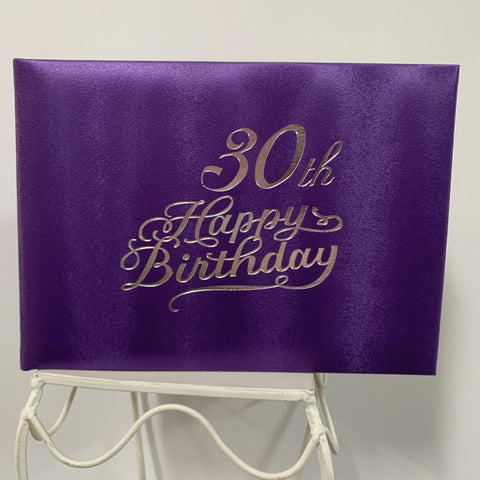 Guest Book 30th Purple/Silver in Box