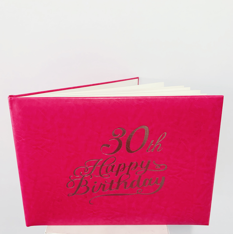 Guest Book 30th Hot Pink/Silver in Box