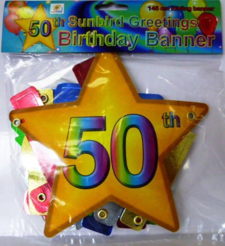 Folding Banner 50th Birthday