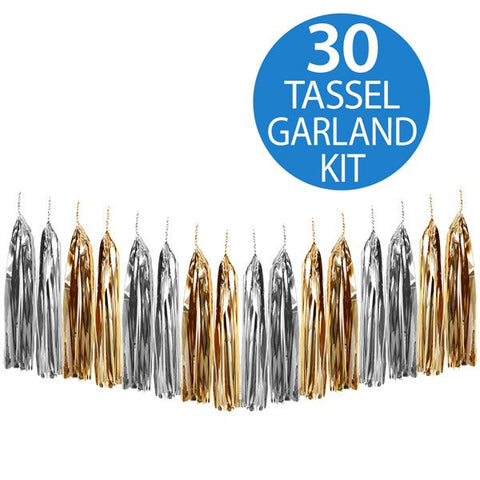 Tassels Metallic Gold and Silver
