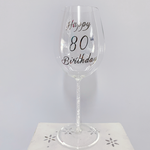 Wine Glass Crystal Stem 80th