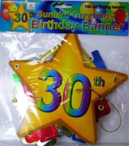 Folding Banner 30th Birthday