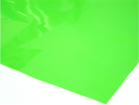 Cellophane Sheet Solid Colour Lime Green