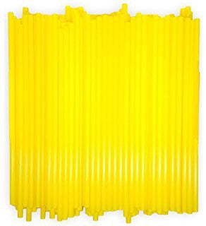 Plastic Drinking Straws Yellow