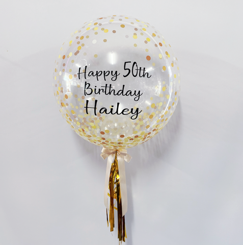 Personalised Faux Confetti Balloon