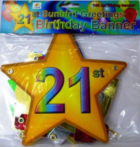 Folding Banner 21st Birthday