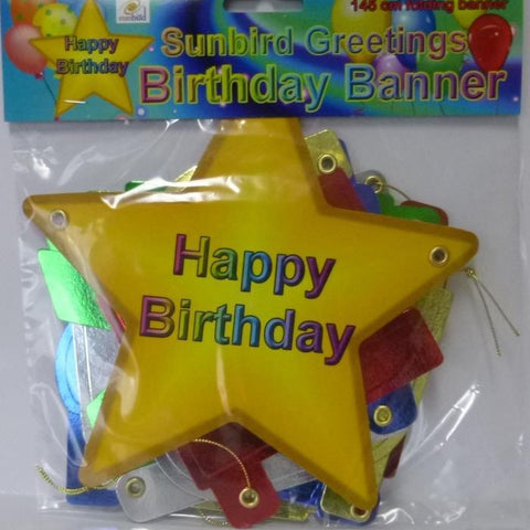 Folding Banner Happy Birthday