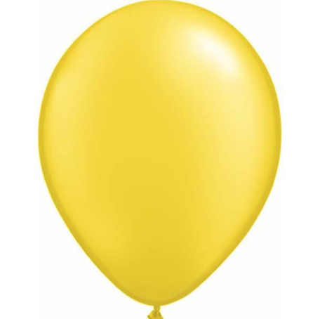 Pearl Citrine Yellow Latex Balloons Pack of 25