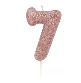 Glitter Candle #7 Rose Gold
