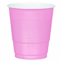 Plastic Cup Extra LargeLight Pink 355ml