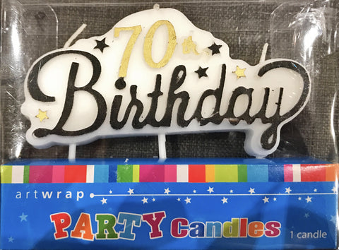 Age Candles 70th Candles