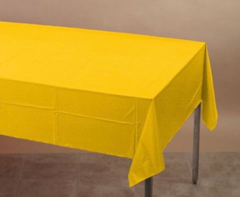 Plastic Tablecover Yellow